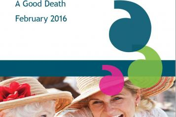 End of life care report 2016 front cover