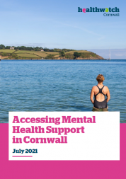Accessing mental health support in Cornwall