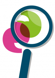 Report graphic, magnifying glass