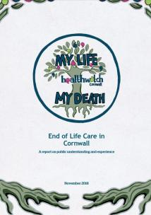 End of life care report cover 2018 tree of life